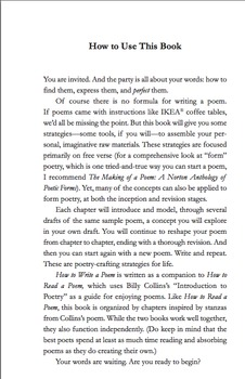 "How to Write a Poem: Based on the Billy Collins Poem ""Introduction to Poetry"""