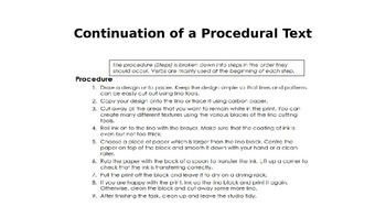 How to Write a Procedural Text
