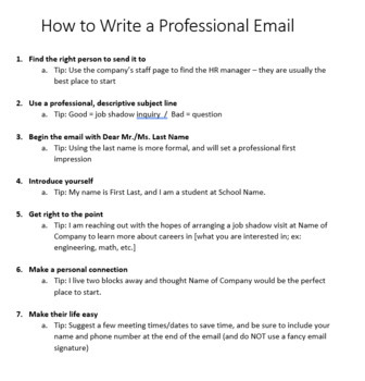 How to Write a Professional Email - 5 E lesson, game, templates, checklist!