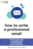 How to Write a Professional Email - 5 E lesson, game, temp