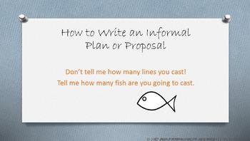 Written Informal Proposal