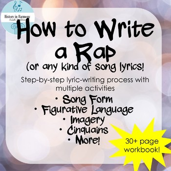 How To Write A Rap Unit Song Form Figurative Language Imagery