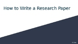 How to Write a Research Paper - Lesson Presentation
