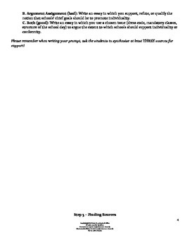 How to Write a Synthesis/Research Simulation Task