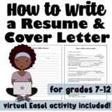 How to Write a Resume & Cover Letter: Classroom Lesson & W