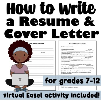 How to Write a Resume & Cover Letter: Classroom Lesson & Worksheet ...