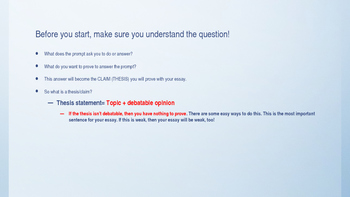 How to Write a Short Response Paragraph--Very Detailed