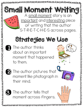 How to Write a Small Moment Story {Anchor Chart}