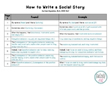 How to Write a Social Story (FREEBIE)