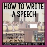 How to Write a Speech