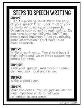 Speech writing assistance