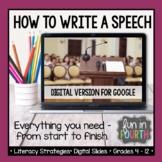 How to Write a Speech   Speech Writing   Google Slides™ fo