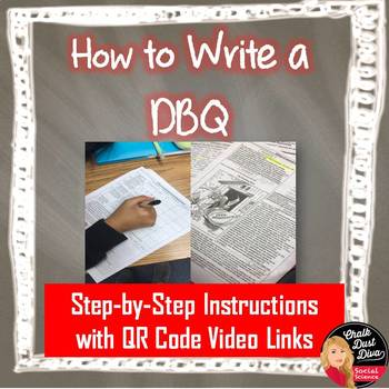 How to Write a Standard DBQ Handout with Video Links