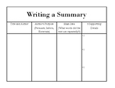Summary Graphic Organizer (nonfiction)