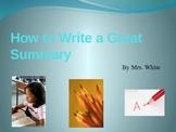 How to Write a Summary Slide Show