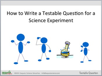 How to Write a Testable Question (Scientific Method)