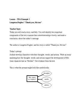 """How to Write TDAs - """"Thank you, Ma'am"""" by Langston Hughes Lexile 650"""