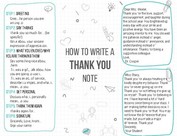 How to Write a Thank You Note