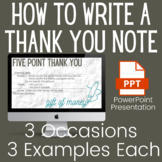 How to Write a Thank You Note PowerPoint Presentation