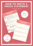 How to Write a Thesis Statement (Beginners)