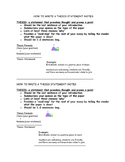 How to Write a Thesis Statement Interactive Notebook