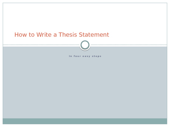How to Write a Thesis Statement in Four Easy Steps ppt