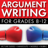Argumentative Essay Writing, Argument Writing How to Guide, Topics, Rubric CCSS