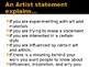 How to Write an Artist Statement Powerpoint