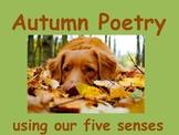 How to Write an Autumn Poem using Senses (power point & le