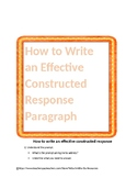 How to Write an Effective Constructed Response