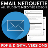 How to Write Email, Email Etiquette, PDF & Google Drive, Distance Learning, CCSS