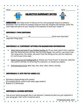 How to Write an Effective Objective Summary