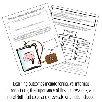 How to Introduce Yourself Activity Packet (A Get to Know You Activity)