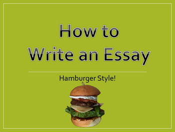 hamburger essay writing Hamburger essay planner creative writing uchicago posted on april 15, 2018 by in uncategorized exploratory essay: the strategy of an exploratory essay is that you.