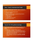 How to Write an Essay Handout **To Accompany Matching PowerPoint