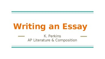 How to Write an Essay - Honors/AP Version