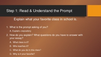 How to Write an Essay PowerPoint **To Accompany Matching Handout