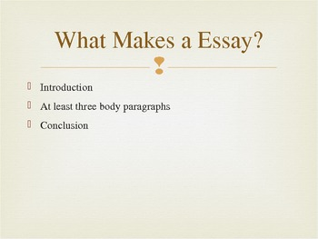 How to Write an Essay - The Basics (teacher's version)