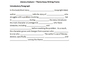 How to Write an Essay about a Literary Theme