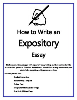 How To Write An Expository Essay By C A Voris Consulting  Tpt  Thesis Statement Essays also Process Essay Thesis Statement  Help With A Business Plan Uk