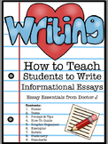 How to Write an Informational Essay in PDF & Google Docs - Common Core Aligned