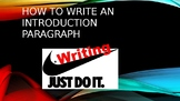 How to Write an Introduction Paragraph PowerPoint