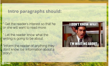 How to Write an Introduction Paragraph Prezi