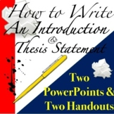How to Write an Introduction for an Essay: Thesis Statement