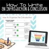 How to Write an Introduction and Conclusion ((with thesis))