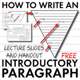 How to Write an Introductory Paragraph, FREE Slides + Handout, Model Intro.