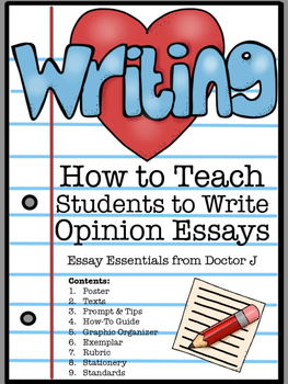 How to Write an Opinion Essay Common Core / TNReady Aligned
