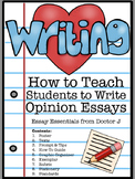 How to Write an Opinion Essay in PDF & Google Docs - Common Core Aligned