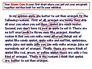 Common Core How to Write an Opinion Paragraph Grades 3, 4. 5