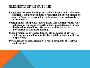 How to Write an Outline-MLA